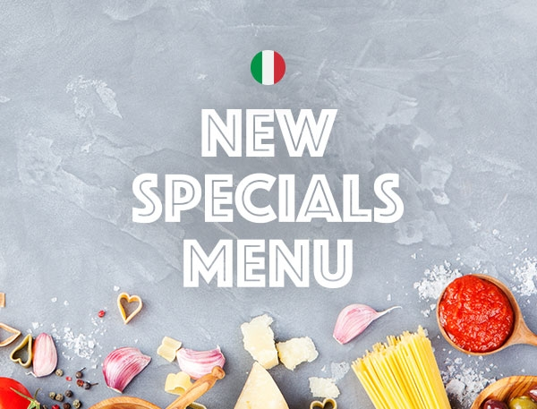 Specials Menu - Tuesday to Thursday
